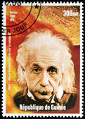 Einstein - Guinea Stamp — Stock Photo