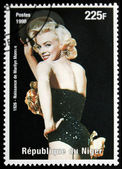 Marilyn Monroe - Niger Stamp — Stock Photo