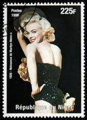Marilyn monroe - niger stempel — Stockfoto