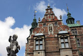 Old castle against blue sky — Stock Photo