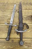 średniowieczne miecze — Zdjęcie stockowe