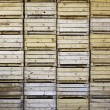 Wooden boxes for fruit - Stock Photo
