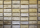 Wooden boxes for fruit — Stock Photo