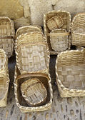 Handmade wicker baskets — Stock Photo