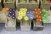 Wood flowers — Stock Photo