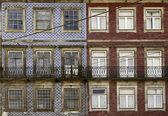 Old facade Portuguese — Stock Photo