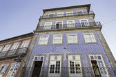 Facade of Lisbon, old houses — Stock Photo