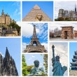 World Monuments Collage - Foto Stock
