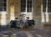Bikes in the street — Stock Photo