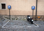 Motorcycle parking — Stock Photo