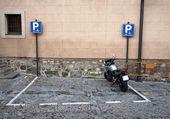 Parkplätze für motorräder — Stockfoto