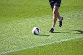 Playing football — Stock Photo