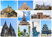 World Monuments Collage — Stock Photo