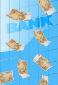 Bank and money — Stock Photo