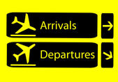 Arrivals and departures — Stock Vector