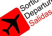 Airport departure — Stock Vector