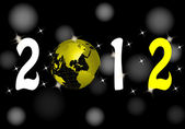 New year 2012 — Vector de stock