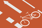 自転車レーン — ストックベクタ