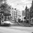 Tram in Amsterdam — Stock Photo