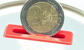 Dwa euro — Zdjęcie stockowe