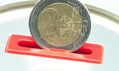 Two euros — Stock Photo