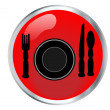 Stock Vector: Icon Restaurant