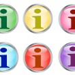 Information shiny buttons — Stock Vector