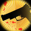 Abstract background with gun — Stock Vector