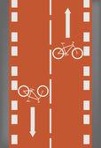 Bike lane — Stock Vector