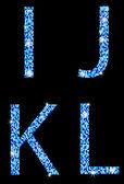 I,j,k,lwhith mosaic texture — Stock Vector