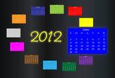2012 calendar — Stock Vector