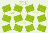 2013 calendar — Vetorial Stock