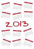2013 calendar — Vecteur