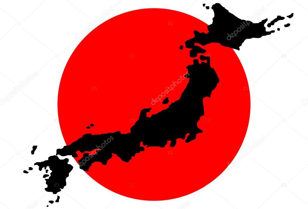 日本地图 - 图库插图