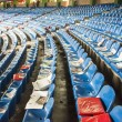 Empty seats at the Vicente Calderon, Madrid — Stock Photo