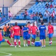 Atletico de Madrid players warming up before the game — Stock Photo