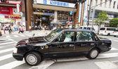 Taxi in Shinjuku distric,Tokyo — Stock Photo
