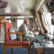 Captain of cruise on Nile in Egypt — Stock Photo #11603824