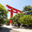 Stock Photo: Tori giant HeiShrine in Kyoto, Japan