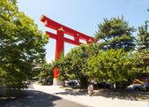 Tori giant Heian Shrine in Kyoto, Japan — Stock Photo