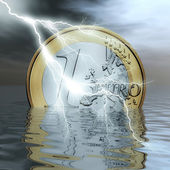 Crisis del euro — Foto de Stock