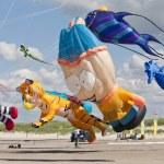 Kite Festval in St. Peter-Ording, Germany — Stock Photo