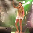 Brazil-Pop Star  Betina Ignacio alias Be performes on the Duckstein Festival in Kiel, 2012 August 19 — Stock Photo