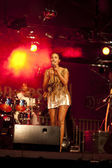 Brazil-Pop Star Betina Ignacio alias Be performes on the Duckstein Festival in Kiel, 2012 August 19 — ストック写真