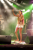 Brazil-Pop Star Betina Ignacio alias Be performes on the Duckstein Festival in Kiel, 2012 August 19 — Stok fotoğraf