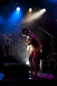 Brazil-Pop Star Betina Ignacio alias Be performes on the Duckstein Festival in Kiel, 2012 August 19 — Foto de Stock