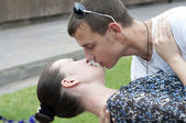 "Participants of the All-Russian flashmob ""Summer's Kiss"" — Stock Photo"