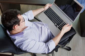 Self-employed man working at home — Stock Photo