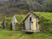 Icelandic turf houses — Stock Photo