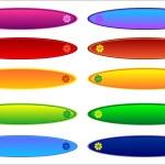 Rainbow button — Stock Photo